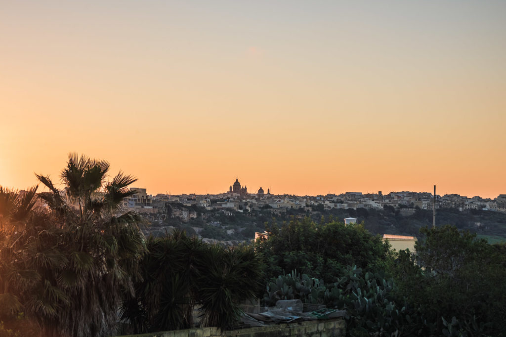 Sonniger Morgen in Gozo