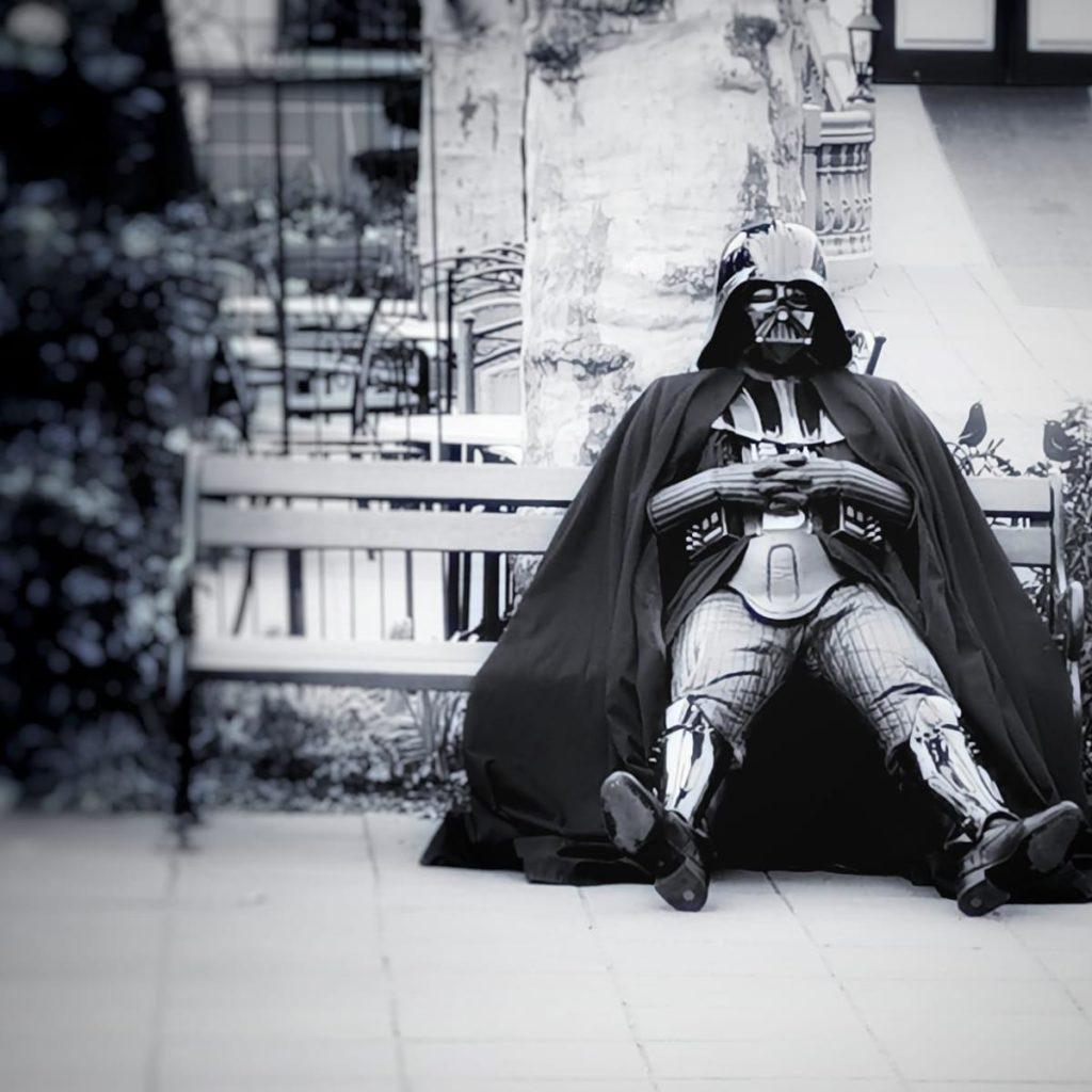 Darth Vader beim Pause machen