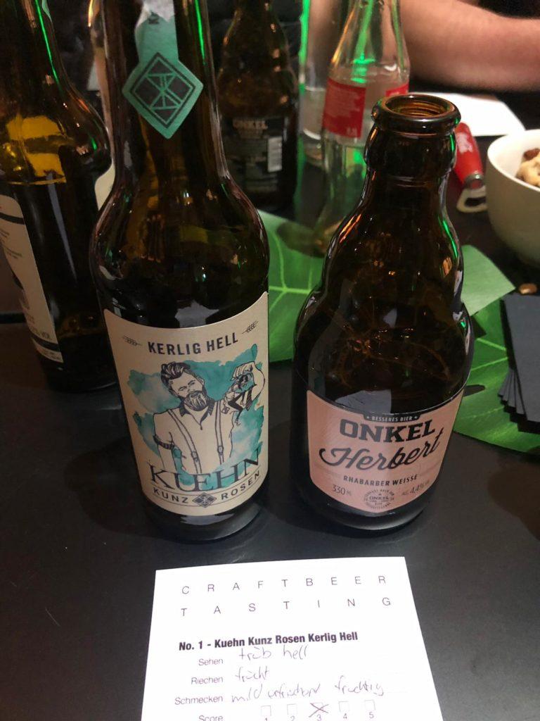 Am Vorabend gab es ein Beer Tasting für die NextChampions Teilnehmer.