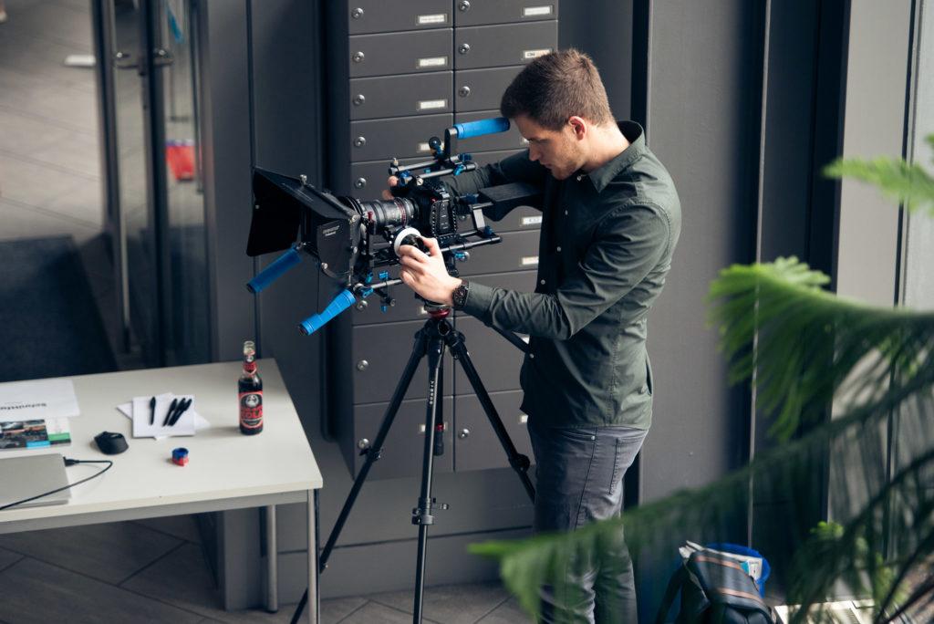 Eifrig am Filmen war Christian Deusel von der Schnittfabrik, auf dessen Film wir schon sehr gespannt sind.