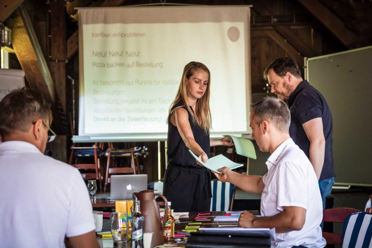 Die Durchführung von Workshops ist ein Teil von Julias Arbeit bei bytabo®.